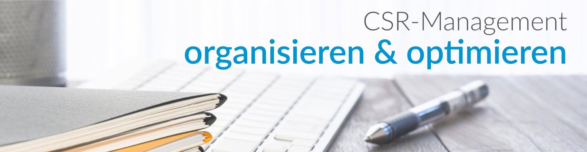 CSR-Management organisieren & optimieren